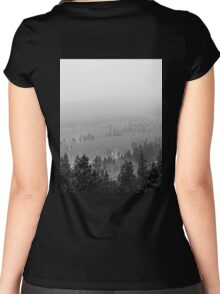 Peak to Peak Highway Snowstorm Study 2  Women's Fitted Scoop T-Shirt
