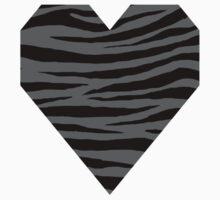 0228 Dim Gray Tiger Kids Tee