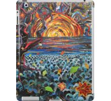 Red Moon Paper Painting iPad Case/Skin