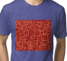 Red and Gold Retro Design - by Maria Eames Tri-blend T-Shirt
