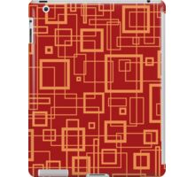 Red and Gold Retro Design - by Maria Eames iPad Case/Skin