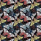 Graphic pattern fancy butterflies by Tanor