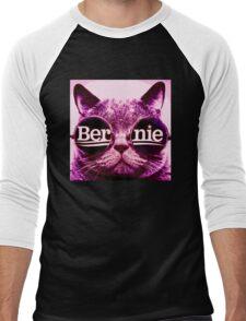 pink Bernie cat Men's Baseball ¾ T-Shirt