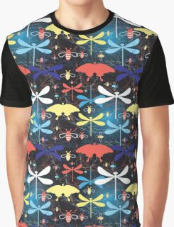 Graphic pattern different insects Graphic T-Shirt