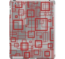 Red and Grey Retro Design - by Maria Eames iPad Case/Skin