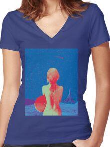"Broken Bells ""After the Disco"" Artwork Women's Fitted V-Neck T-Shirt"