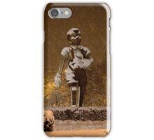 Pinochio in snow iPhone Case/Skin