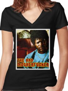"Pulp Fiction- Jules ""The Bad Motherfucker"" Women's Fitted V-Neck T-Shirt"