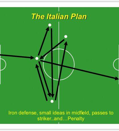 Italian Plan Football Funny Tactics Sticker