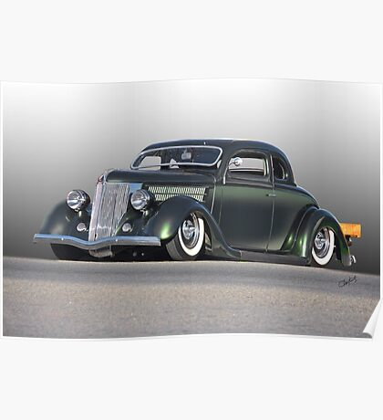 1936 Ford Custom Coupe Poster
