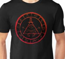 Bill Cipher Zodiac in Red Unisex T-Shirt