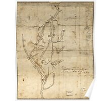 American Revolutionary War Era Maps 1750-1786 526 Fort Edward to Crown Point Poster