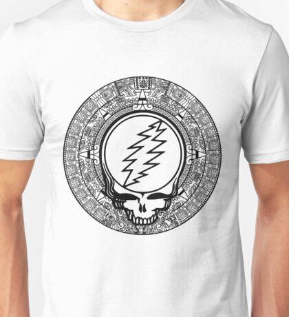 Mayan Calendar Stealie - B&W Unisex T-Shirt