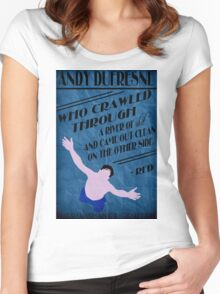 Andy Dufresne - The Shawshank Redemption Women's Fitted Scoop T-Shirt