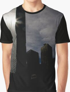 Sunrise reflected on skyscraper Graphic T-Shirt