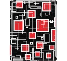 Black White and Red Retro Design - by Maria Eames iPad Case/Skin