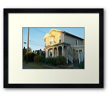 Pixel Sorted House Framed Print