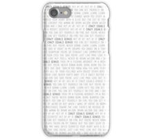 Crazy = Genius iPhone Case/Skin