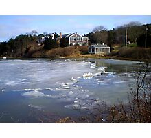 Ice at the Inlet Photographic Print