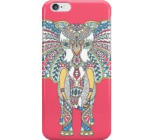 Doodle with decorated Indian Elephant iPhone Case/Skin