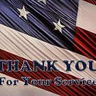 USA Military Veterans Patriotic Flag Thank You by Shelley Neff