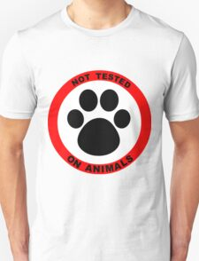 No Animal Testing Unisex T-Shirt