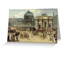 Joseph Louis Hippolyte Bellangé - Military Review Under the Empire (aka Showing the Troops Greeting Card