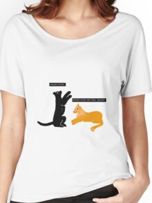 X-files Cats: Spooky stuff isn't real, Mulder Women's Relaxed Fit T-Shirt
