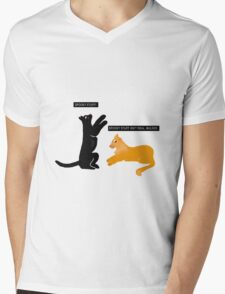 X-files Cats: Spooky stuff isn't real, Mulder Mens V-Neck T-Shirt
