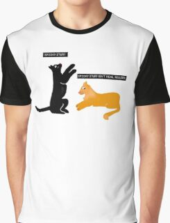 X-files Cats: Spooky stuff isn't real, Mulder Graphic T-Shirt