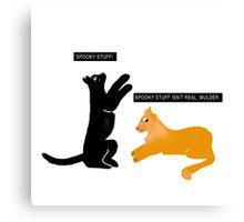 X-files Cats: Spooky stuff isn't real, Mulder Canvas Print