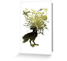 Kamikaze Raven Greeting Card