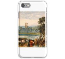 Joseph Mallord William Turner - Kirkstall Abbey, on the River Aire iPhone Case/Skin