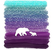 Bears from the Purple Dream Photographic Print
