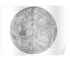 Moonmap bw Poster