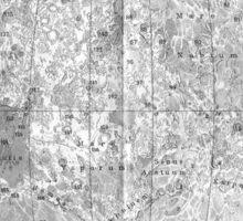 Moonmap bw Sticker