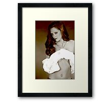 Her sexy look Framed Print