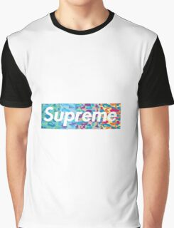 Supreme X Bape rainbow camo Graphic T-Shirt