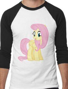 Cutie Fluttershy Men's Baseball ¾ T-Shirt