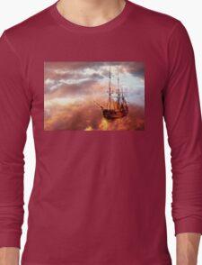 Neverland Ship (Colour) Long Sleeve T-Shirt