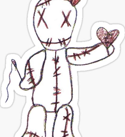 """There, all Fixed"" Voodoo Doll  Sticker"