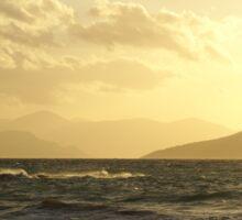 Moody Winter Grecian Sunset Sticker