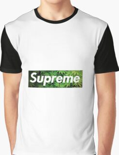 Supreme X Kush  Graphic T-Shirt