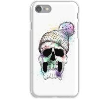 Pastel Skull on White iPhone Case/Skin