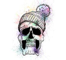 Pastel Skull on White Photographic Print