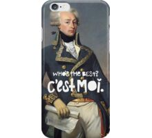 favorite fighting frenchman iPhone Case/Skin