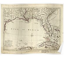 American Revolutionary War Era Maps 1750-1786 059 A map of East and West Florida Georgia and Louisiana with the islands of Cuba Bahama and the countries Poster