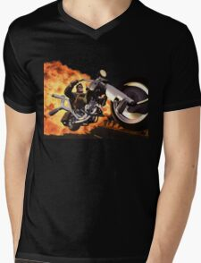 Full Throttle Mens V-Neck T-Shirt