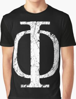 Phi Greek Letter Symbol Grunge Style Graphic T-Shirt