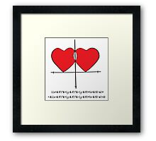 Two geek hearts  Framed Print